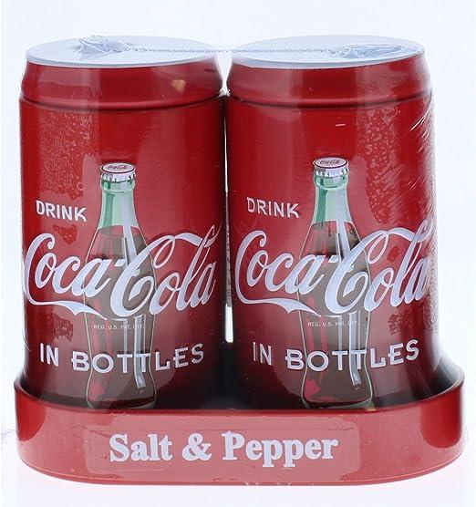 Coke Coca Cola Tin Salt /& Pepper Shaker Set!