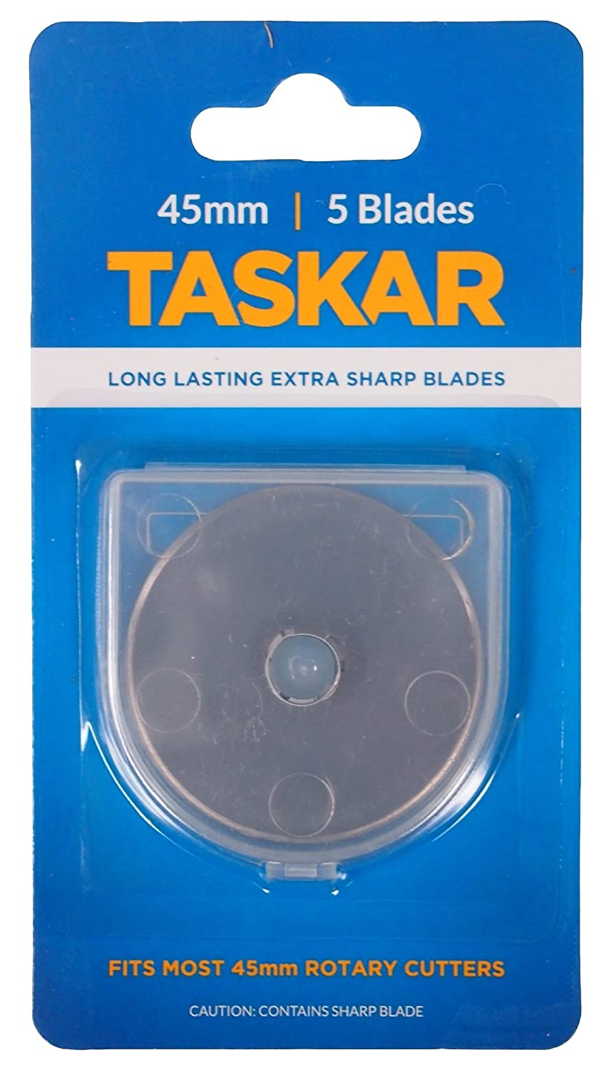 Taskar 45mm Rotary Cutter Blades for Olfa Etc - 5 Pack