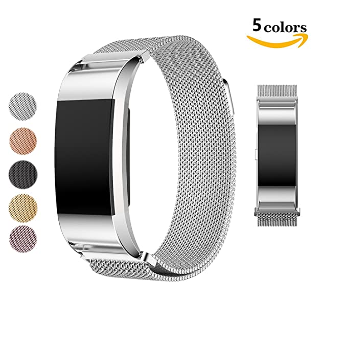 8 opinioni per Cinturino in metallo per Fitbit Charge 2fasce, Chok idea Magnet Lock milanese