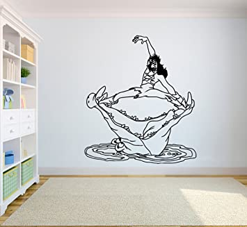 Crocodile Wants To Eat Captain Hook Vinyl Poster Cartoon Walt Disney Wall  Mural Peter Pan Wall Part 65