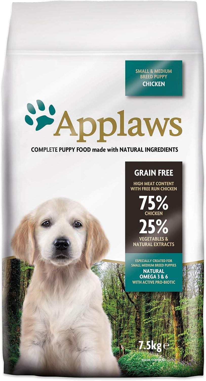 Applaws Comida Seca para Perros Puppy pequeña/Medium Breed gallina, Paquete de 1 Unidad (1 x 7,5 kg)