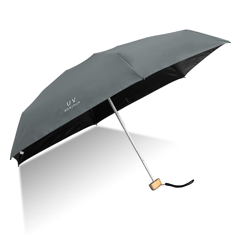 Lightweight Ultra Mini Umbrella Sheng Xuan Parasol Collapsible Travel Umbrella Pocket Size Ultra Light Anti-UV Umbrella Sturdy Compact and Portable Umbrella Women Men Your Intimate Companion(Black)