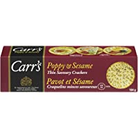 Carr's Poppy and Sesame Crackers, 12 Count