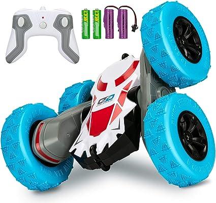 Remote Control Car 360° Rotate Stunt Car RC Car 4WD Kids Holiday Gift Led Xmas