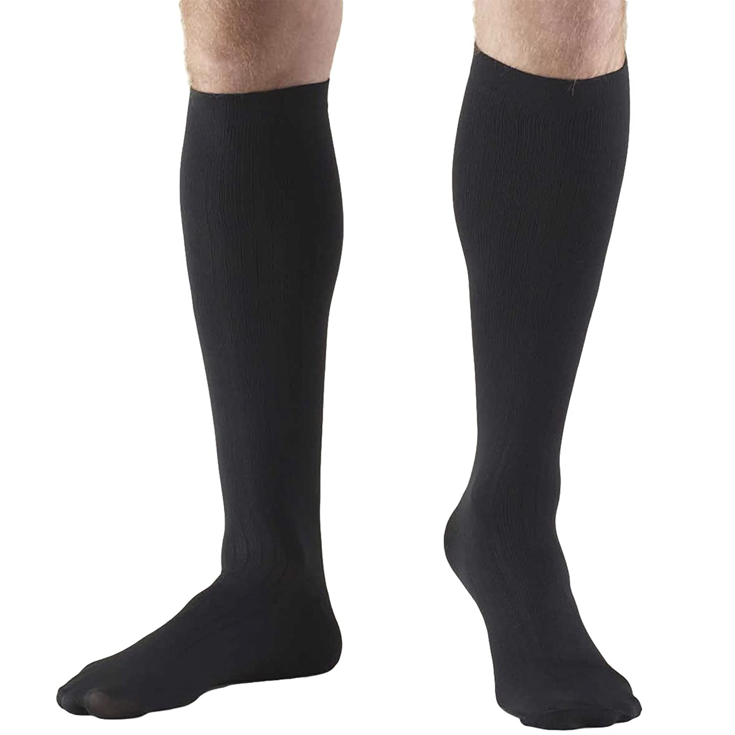 Amazon.com: Truform Compression Socks, 8-15 mmHg, Mens Dress Socks, Knee High Over Calf Length, Black, Large (8-15 mmHg): Health & Personal Care