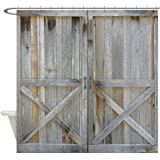 CafePress - Old Rustic Barn Door - Decorative Fabric Shower Curtain