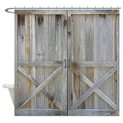 CafePress Old Rustic Barn Door Decorative Fabric Shower Curtain 69quot