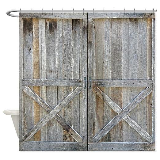 Amazon.com CafePress - Old Rustic Barn Door - Decorative Fabric Shower Curtain (69\ x70\ ) Home \u0026 Kitchen  sc 1 st  Amazon.com & Amazon.com: CafePress - Old Rustic Barn Door - Decorative Fabric ...