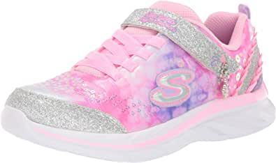 Skechers Quick Kicks - Lil Princess Girls Sneakers, Pink/Lavender