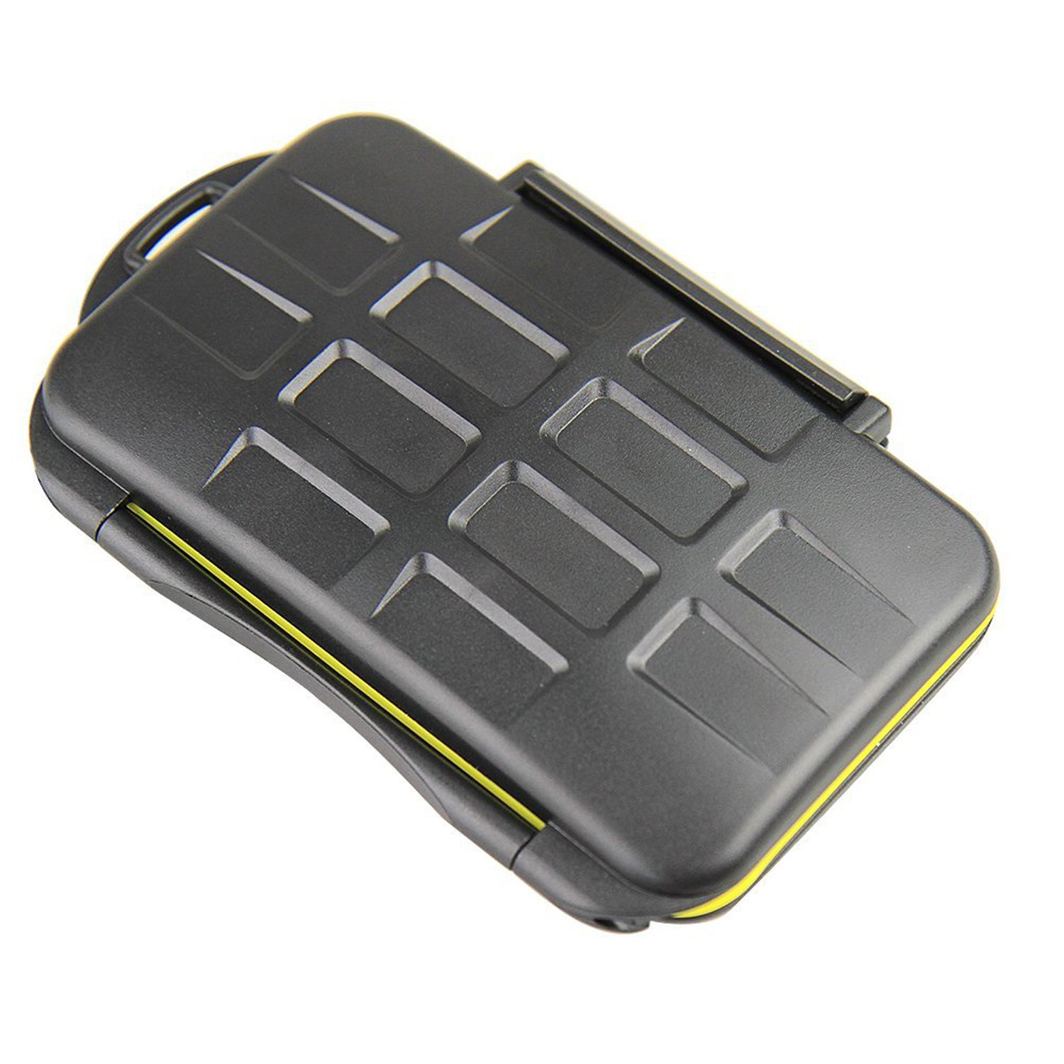 GoFriend Water-Resistant 24 Slots Memory Card Carrying Cases Professional Anti-shock Holder Storage SD SDHC SDXC and Micro SD TF Cards Protector Cover With Carabiner & Card Reader by GoFriend (Image #6)