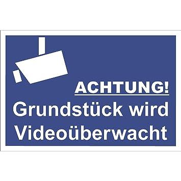 Cartel de videovigilancia con señal de Advertencia, Placa de ...