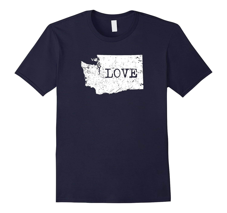 Home Tees I Love My Home State Washington T-Shirt-Vaci