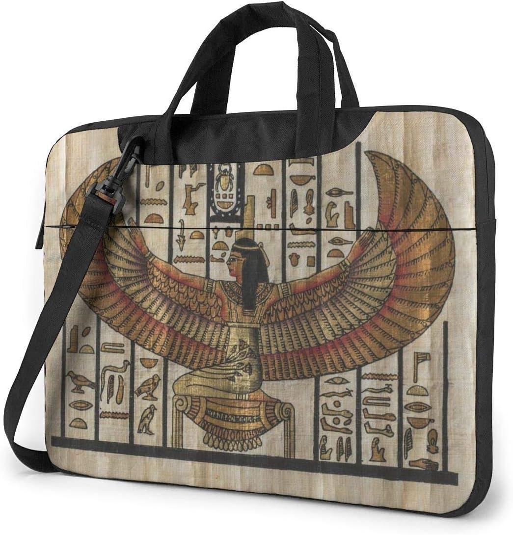 Bolso para computadora portátil Funda para computadora Funda con Funda, Archivo Egipcio Antiguo Bolso de Hombro para Tableta de Viaje de Oficina 15.6 Pulgadas