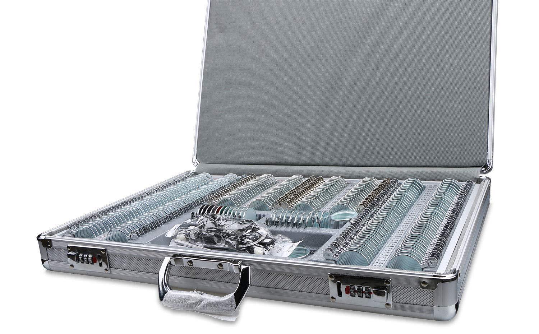 266 pcs Optical Trial Lens Set Optometry Kit Metal Rim w/Trial Frame