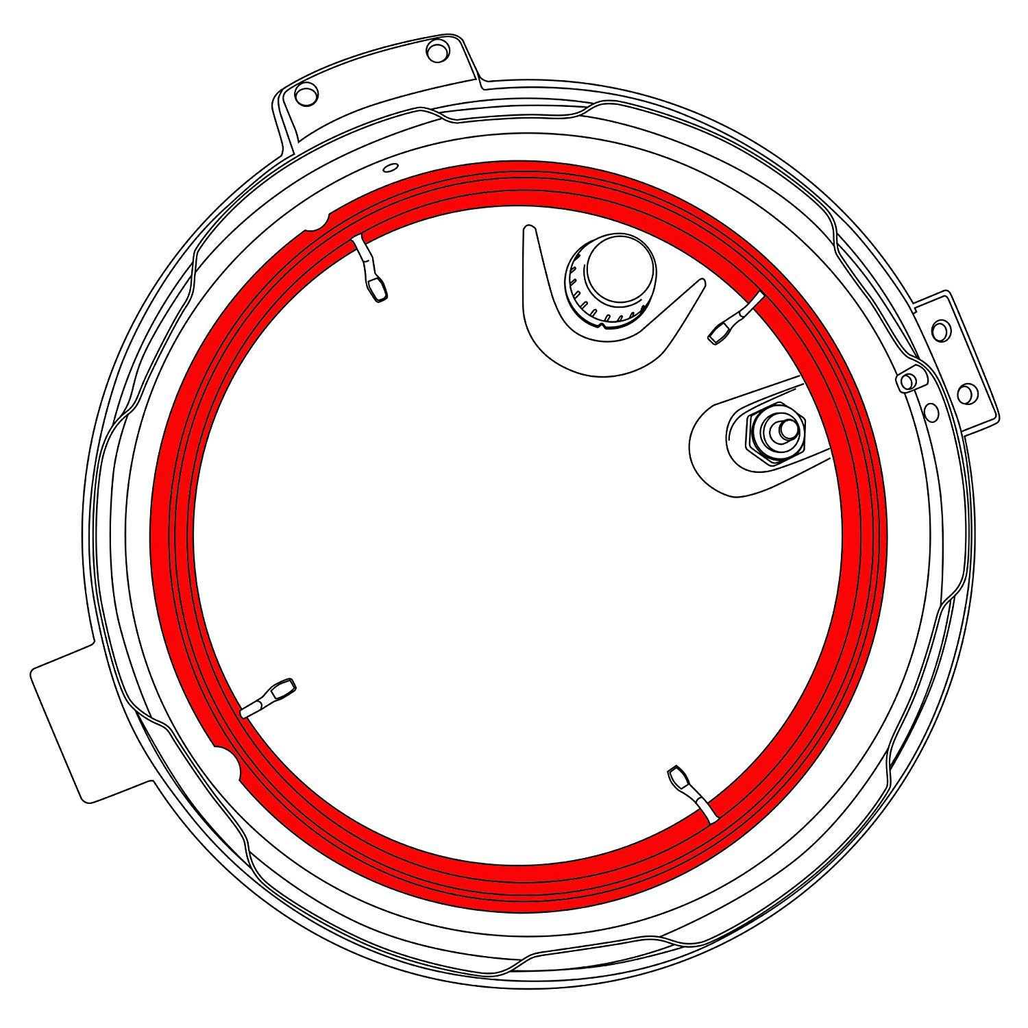 CP016-PC Sealing Ring For COSORI 6 QT Pressure Cooker Model