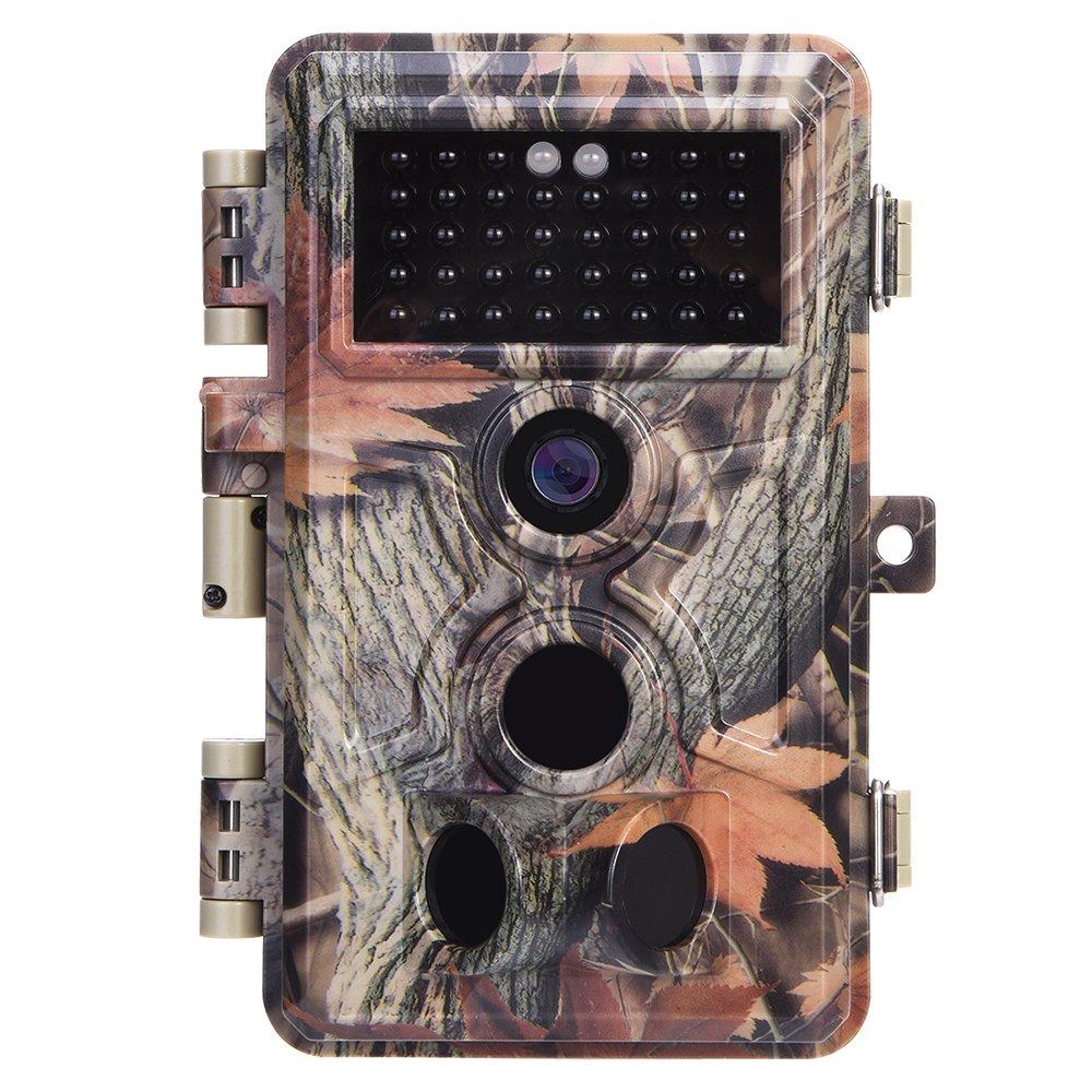 Zopu Trail Camera 16MP 1080P No Glow Night Vision, Game Camera with 2.4 LCD 120° PIR Sensors, Hunting Camera 0.2s Trigger Speed, Wildlife Camera IP66 Waterproof Protected 57084