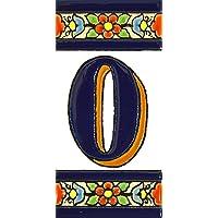 Letreros con numeros y letras en azulejo