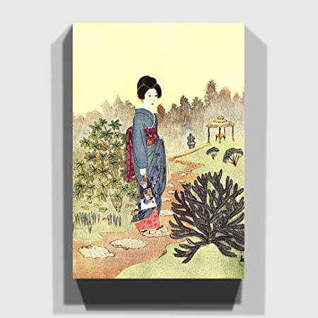 Big Box Art Canvas Print 20 x 14 Inch (50 x 35 cm) Geisha Girl ...