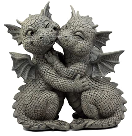 Ordinaire Ebros Gift Fiery Romance Hatchling Dragon Lovers Garden Statue Faux Stone  Resin Finish 10u0026quot;H