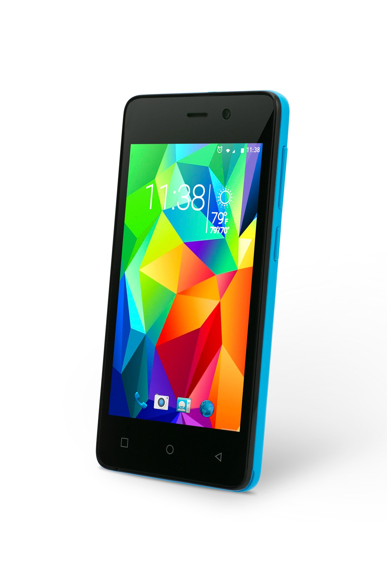 SLIDE Dual SIM 4'' Unlocked Smartphone, Quad Core 1.3GHz Processor, 8GB Storage, 3G GSM Coverage - Blue (SP4023)
