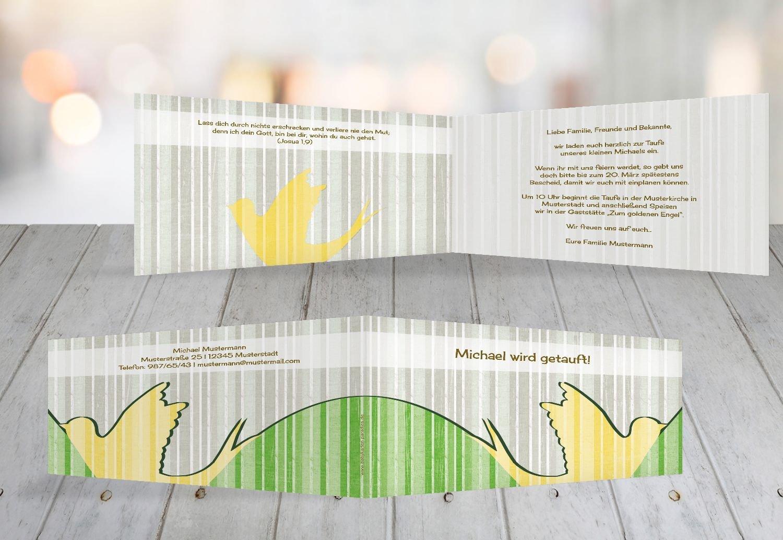 Kartenparadies Einladungskarte Taufeinladung Taufkarte Streifenharmonie, hochwertige Einladung zur Taufe inklusive Umschläge   100 Karten - (Format  215x105 mm) Farbe  OckerBeige B01MRBYMK5 | Attraktive Mode  | Erlesene Materialien  | Düsseldorf On