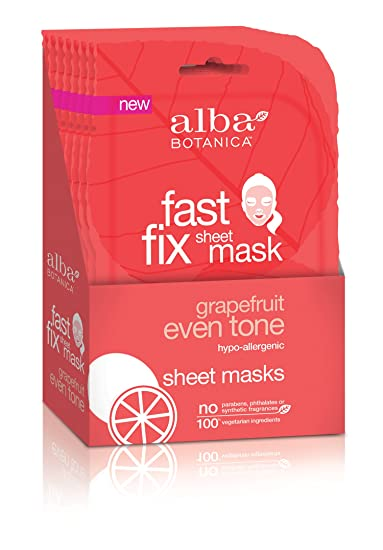 Fast Fix Facial Sheet Mask Even Tone Grapefruit - 1 Count by Alba Botanica (pack of 3) Galderma Benzac  Skin Refining Mask, 2 oz