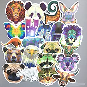 Random Stickers for Laptop [35Pcs] Diamond Animal Decals Northern Lights Starry Sky Stickers Car Motorcycle Bicycle Luggage Helmet Graffiti Patches Skateboard Mac Stickers