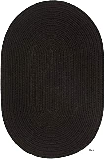 product image for Rhody Rug Madeira Indoor/Outdoor Reversible Braided Rug (5' x 8') Black 6' Round/Square