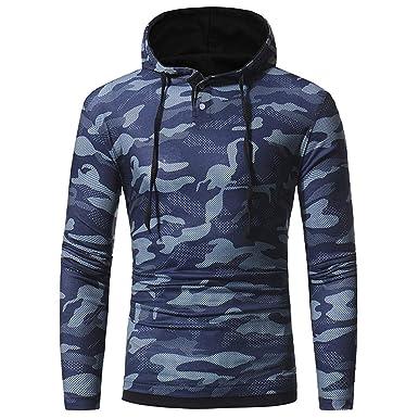 2a254e7fd72e04 Longra Kapuzenpullover Herren Casual Hoodie Sweatshirt Camouflage Hoody  Kapuzenjacke Männer Strickpullover Mantel Outwear Kapuzenshirt Kapuzen- Sweatshirt ...