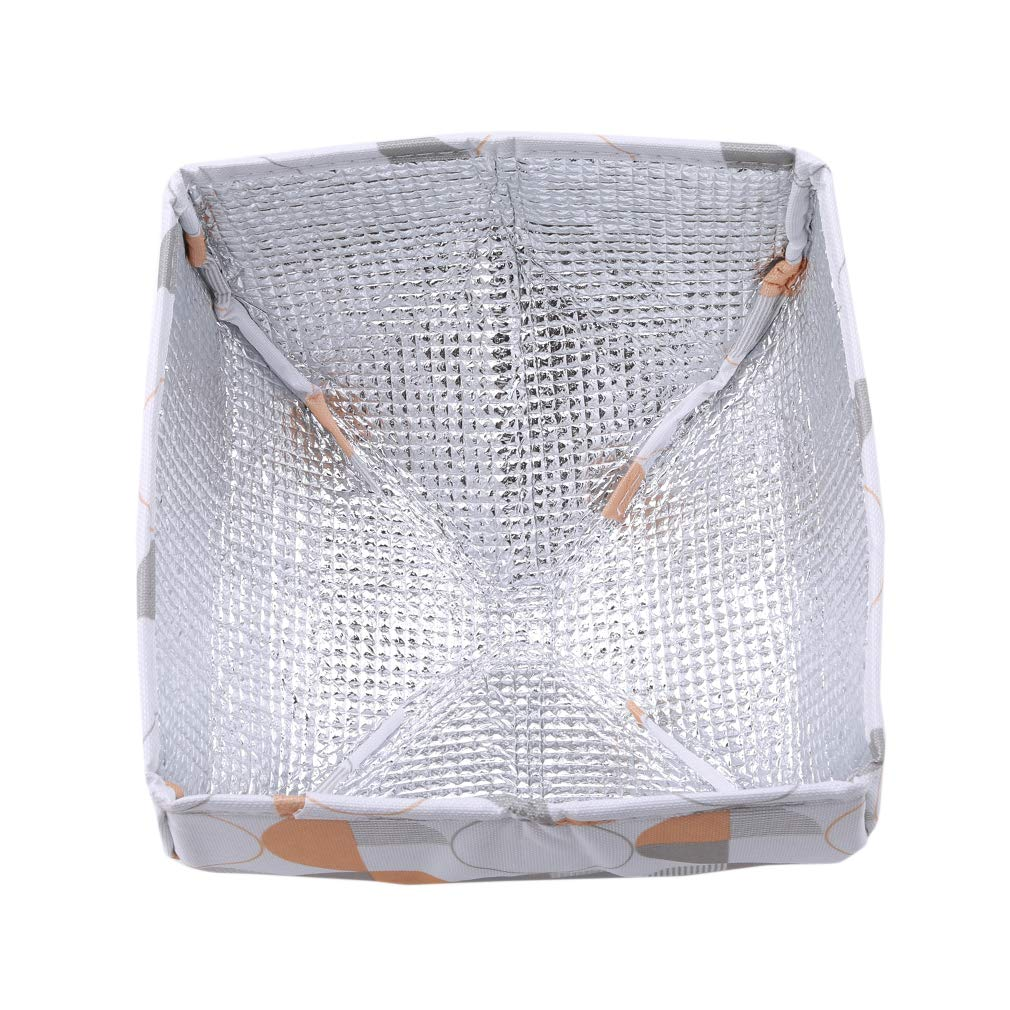 EH-LIFE Food Cover Keep Warm Foldable Aluminum Foil Vegetable Cover Dishes Kitchen Dust-proof Insulation Cover Small White Round 3# by EH-LIFE (Image #4)