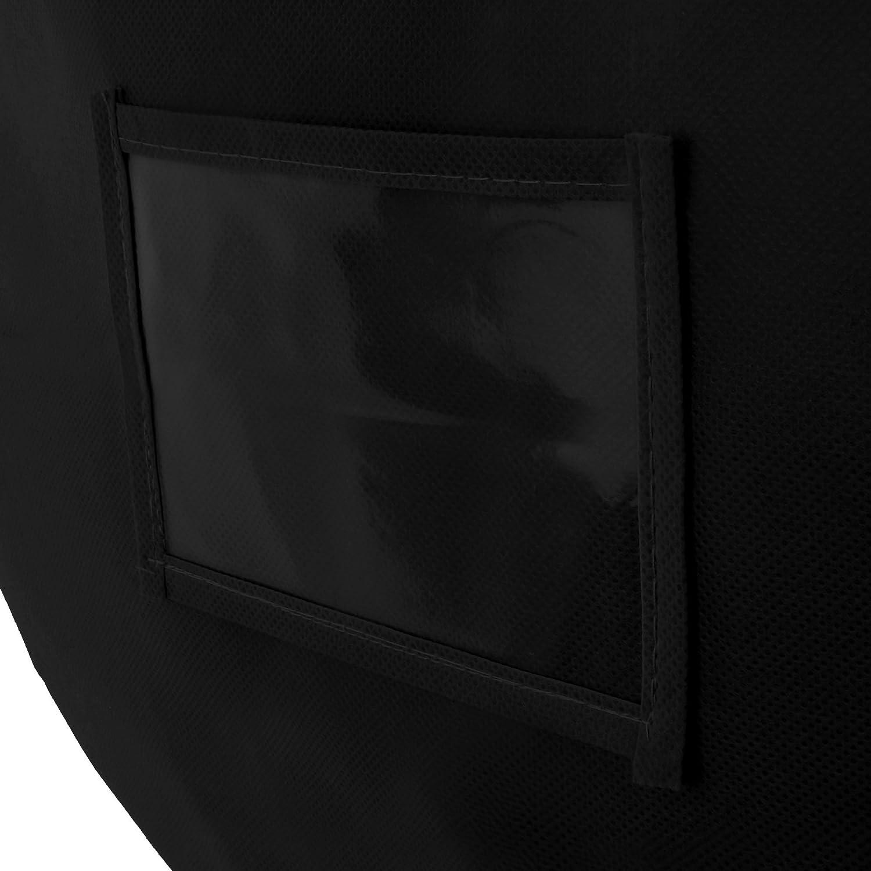 Hangerworld 1 Funda para Edred/ón 60cm x 50cm Negro Transpirable con Cremallera