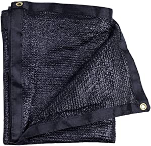 e.share 40% Black Shade Cloth Taped Edge with Grommets 20 ft X 20 ft