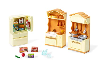 Amazon Com Calico Critters Kitchen Play Set Toys Games