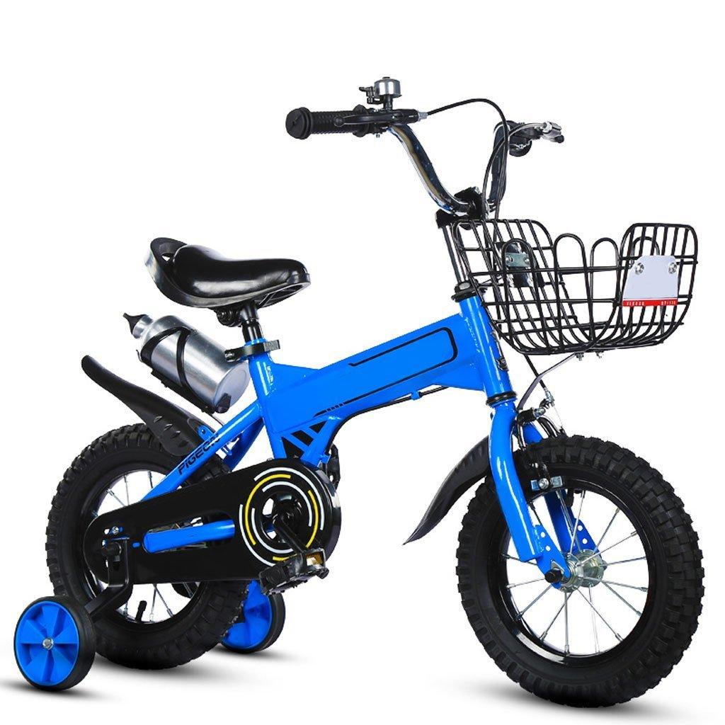 XBNH Bicicleta para Niños 2-3-4-5-6-8-9-10 Años De Edad Bicicleta De Montaña 12/14/16/18 Pulgadas Bicicleta para Bebés con Botellas De Agua Ayudar A La Rueda (Tamaño: 18 Pulgadas)