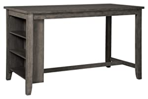 Signature Design by Ashley Caitbrook Rectangular Dining Room Counter Table, Dark Gray