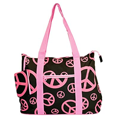 Ever Moda Peace Sign Tote Bag X-Large