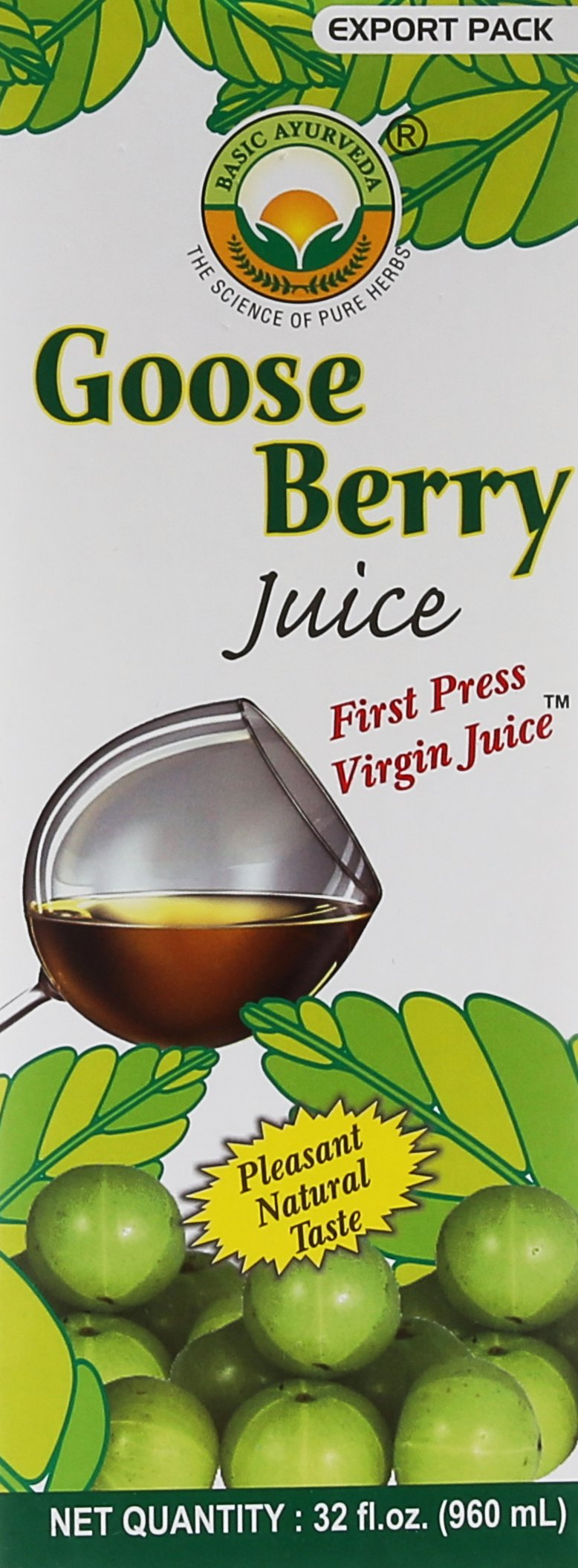 Basic Ayurveda Gooseberry Juice 960mL