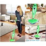 Storesaver 12 in 1 Steam Mop 1300W Super Heated Multi Upright & Handheld Steam Cleaner Sterilizer 12 in 1 (Green)