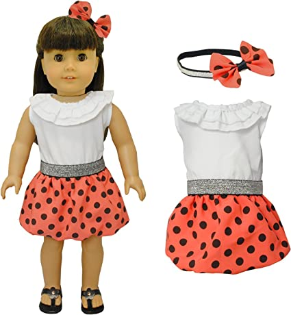 "18/"" Doll Clothes Butterfly Skirt Set fits 18/"" Girl Doll Butterfly Skirt Set"