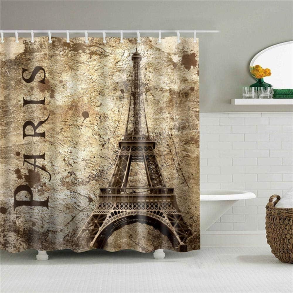 Aomerrt Cortina de Ducha de Tela de poliéster Paris impresión de ...