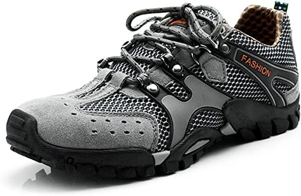 gracosy Zapatos de Trekking para Mujer y Hombre Senderismo Zapatillas de Deporte al Aire Libre Cordones Botas Ligeras Zapatillas de Trail Low Rise ...