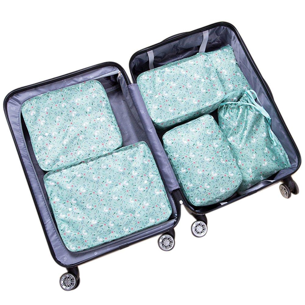 Belsmi 6 Set Packing Cubes - Waterproof Compression