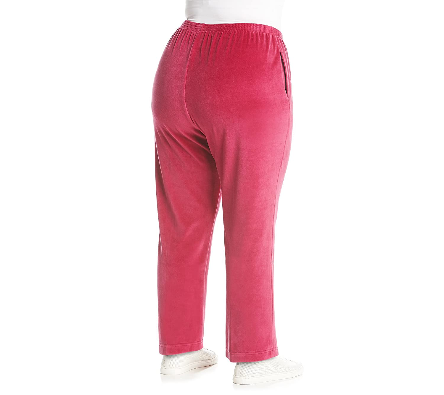 80304cf5619f2 Alfred Dunner Womens Plus Velour Lounge Casual Pants at Amazon Women s  Clothing store