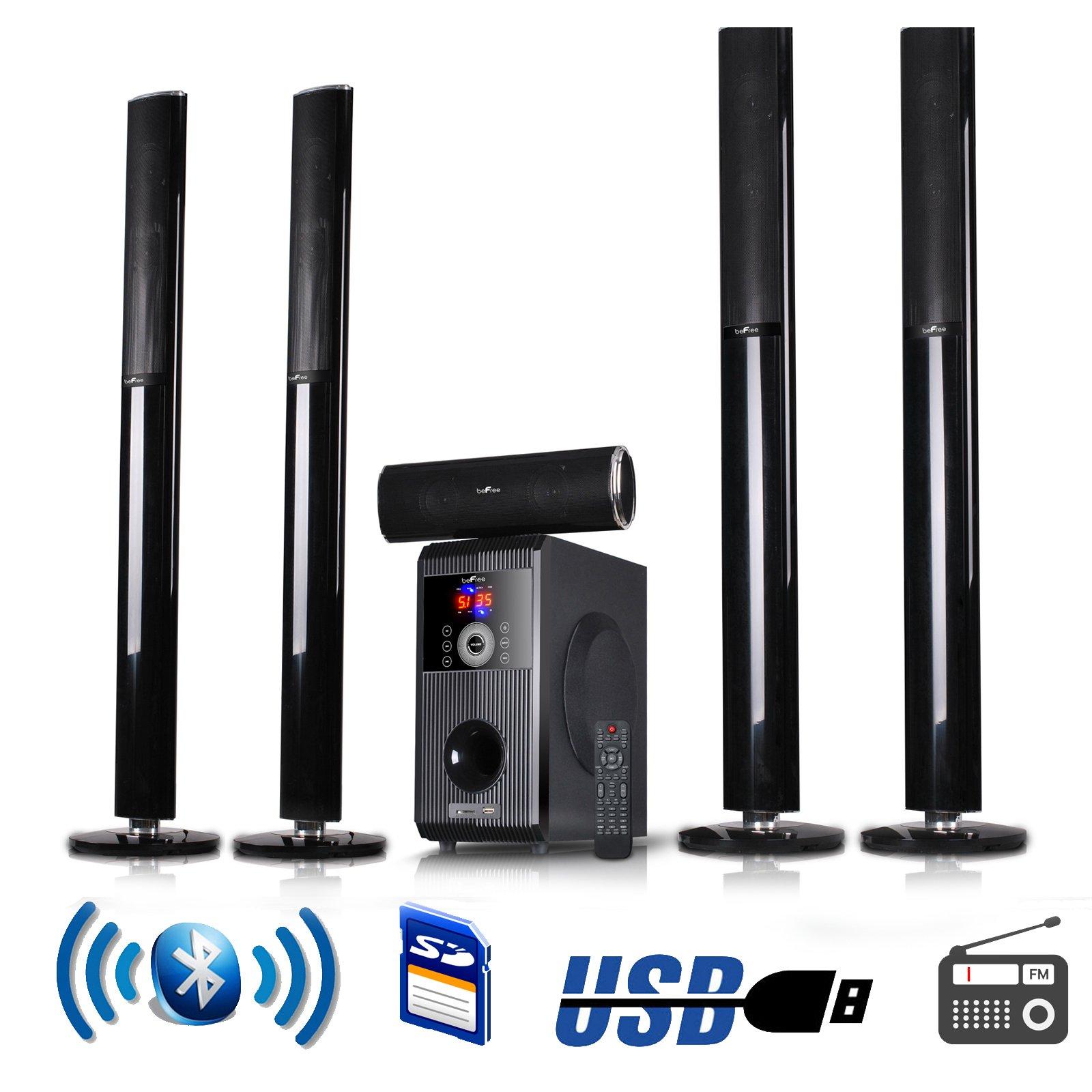 beFree Sound 5.1 Channel Surround Sound Bluetooth Speaker System - 1 Year Direct Manufacturer Warranty
