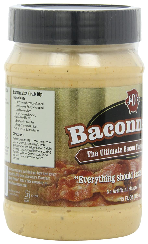 Amazon : J&d Baconnaise Regular Mayonnaise, Bacon, 15 Ounce : Bacon Jam :  Grocery