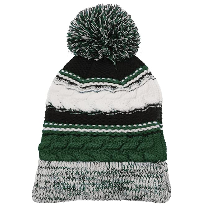 0e10fa5bec7 Pom Pom 3 Team Color Acrylic Winter Beanie Hat - FOREST GREEN BLACK at  Amazon Men s Clothing store