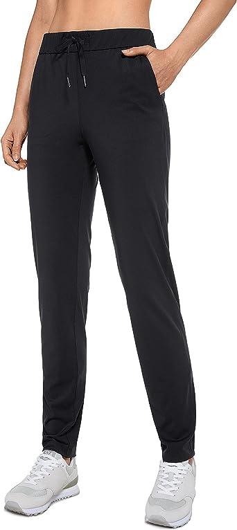 CRZ YOGA Women's Stretch Long Lounge Pants Drawstring Sweatpants Travel Athletic Track Pants with Pockets