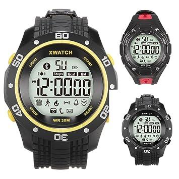 Padgene Reloj Inteligente Pulsera Digital Smartwatch IP68 50m Impermeable Reloj Deportivo Bluetooth 4.0 Al Aire Libre: Amazon.es: Deportes y aire libre