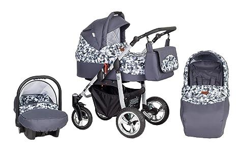 Cochecito Silver 3 piezas Gris Rombos: Amazon.es: Bebé