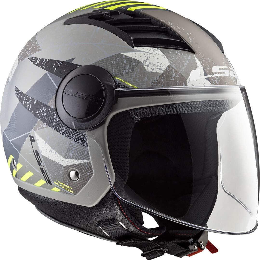 Ls2 Herren Airflow Camo Motorradhelm Gelb Xl Auto